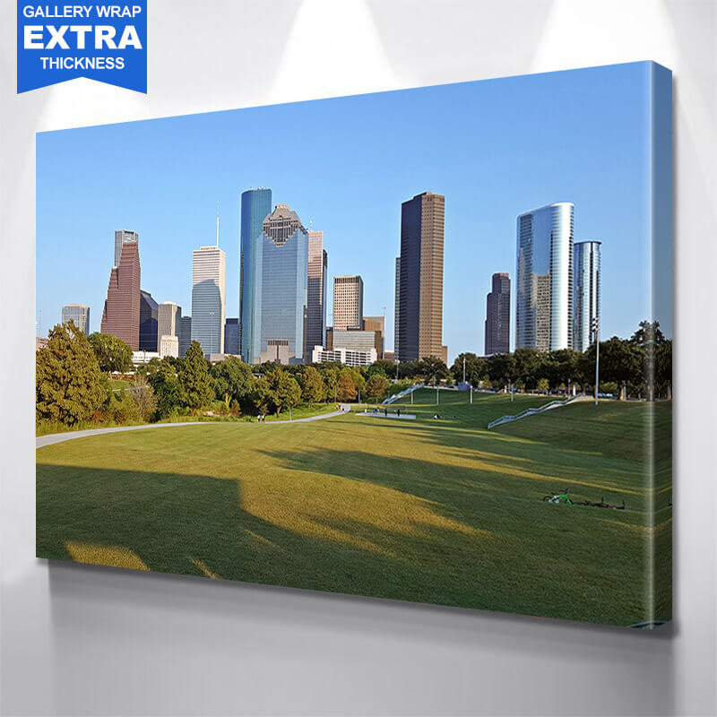 Houston Park Skyline Wall Art Canvas Art