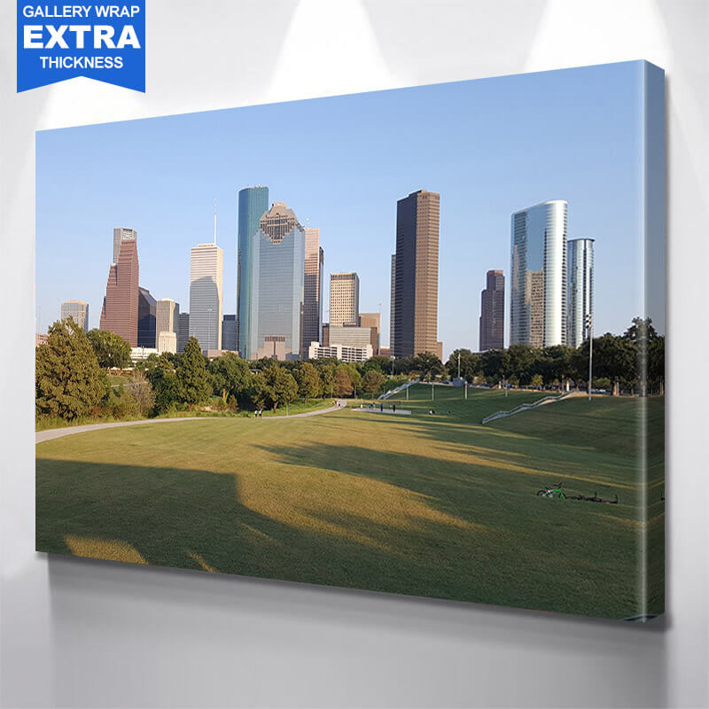 Houston Daytime Skyline Wall Art Canvas Art