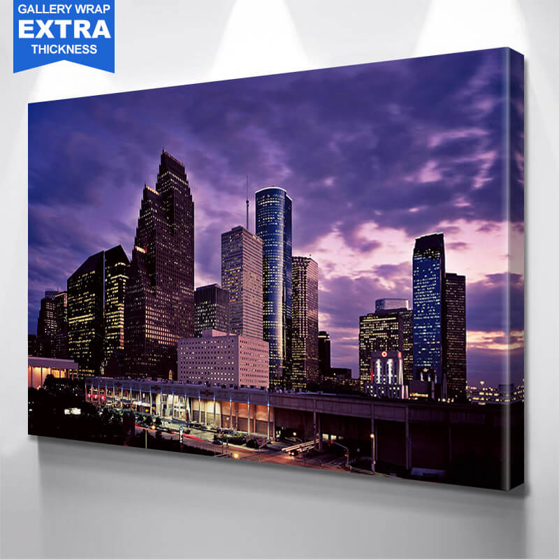 Houston Modern Skyline Wall Art Canvas Art