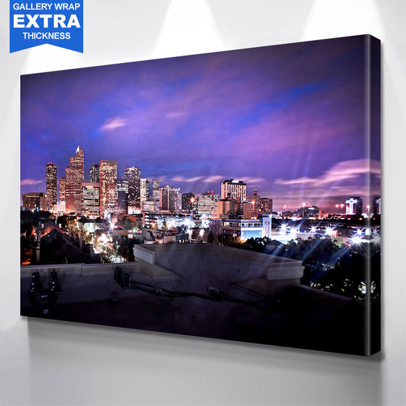 Houston Bright Skyline Wall Art Canvas Art