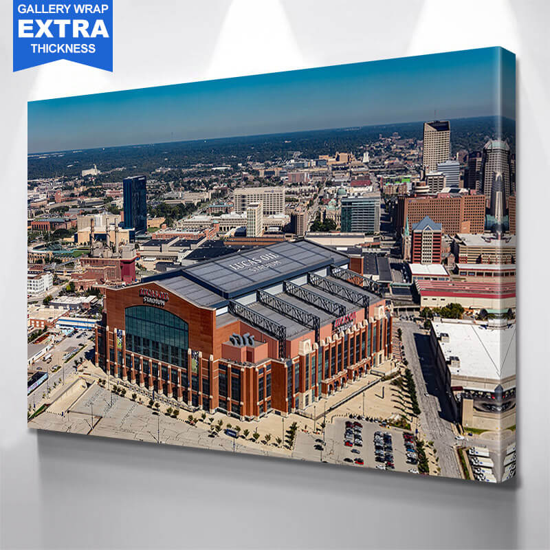 Lucas Oil Stadium Downtown Indianapolis Wall Art Canvas Art