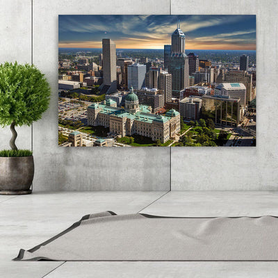 Indianapolis Sunny Skyline Canvas Wall Art Canvas Art