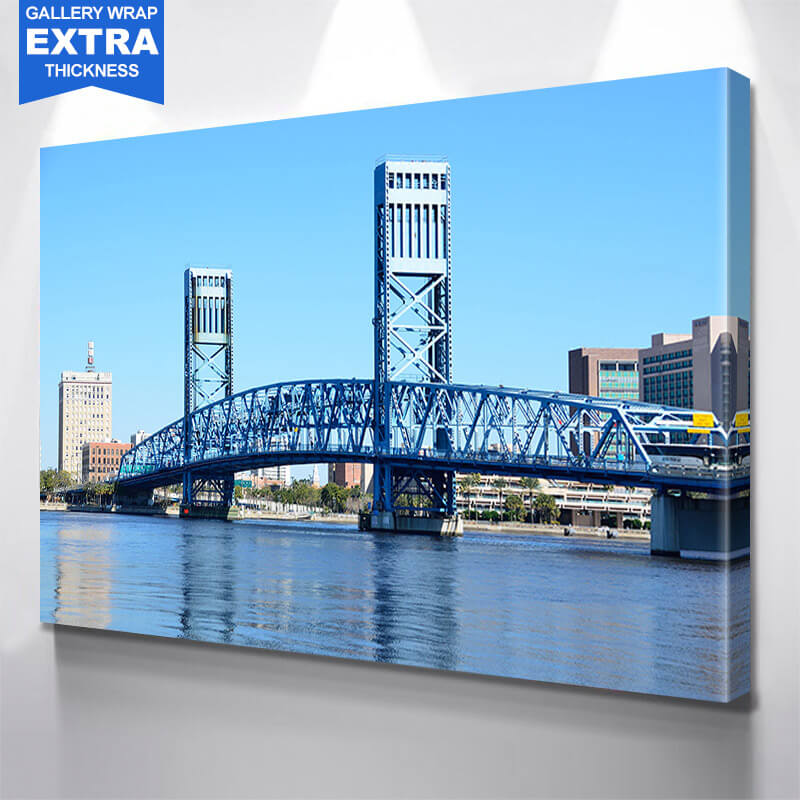 Jacksonville Blue Day  Main Street  Wall Art Canvas Art