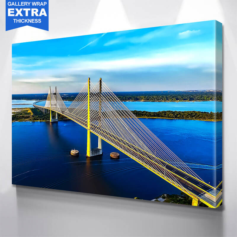 Dames Point Bridge Jacksonville Wall Art Canvas Art