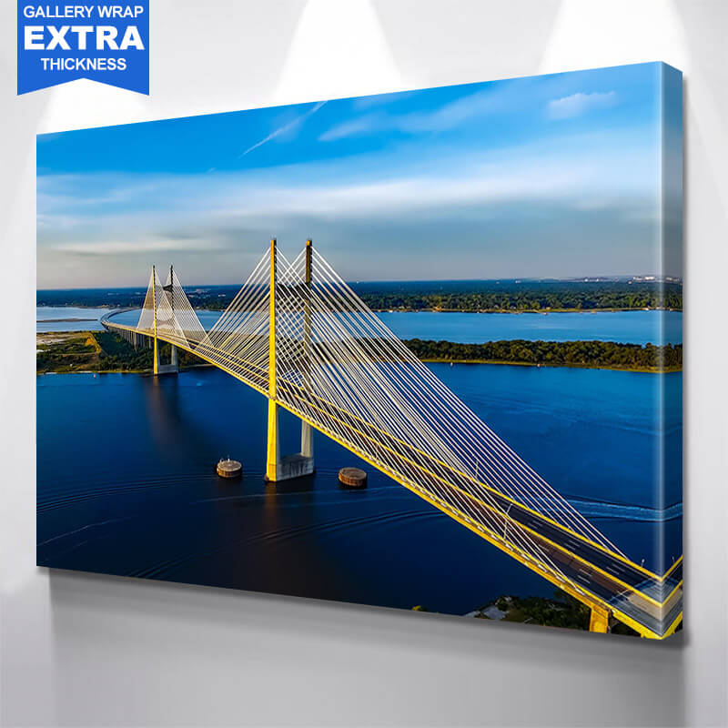 Sunny Dames Point Bridge  Wall Art Canvas Art