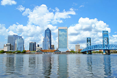 Jacksonville Cloudy Downtown Wall Decals Wall Decals on Wall