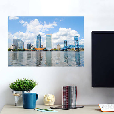 St. John River Jacksonville Skyline Wall Art Wall Decal Wall Art