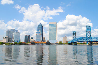 St. John River Jacksonville Skyline Wall Art High Quality Print Wall Art