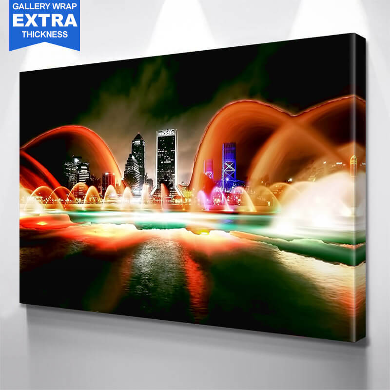 Jacksonville Glow Wall Art Canvas Art