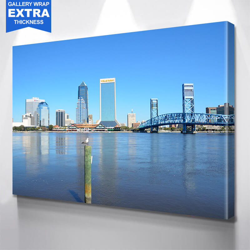 Calm Jacksonville River Wall Art Canvas Art
