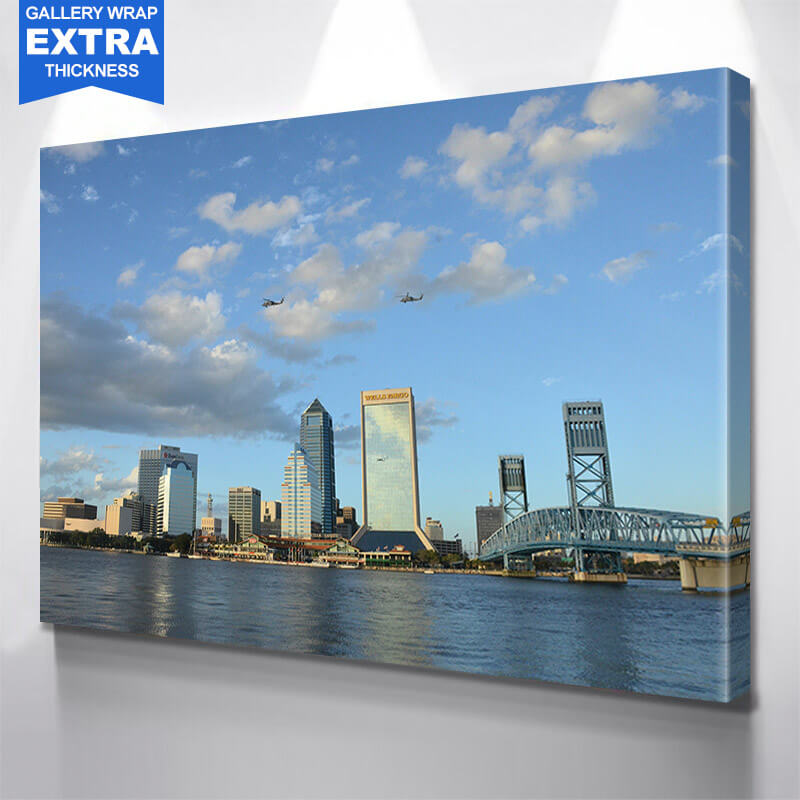 Jacksonville St. John River Flordia Wall Art Canvas Art
