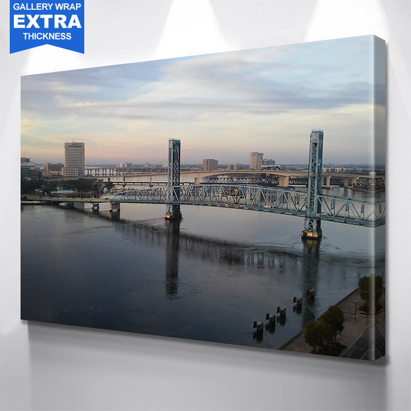 Jacksonville Bridges Aerial Wall Art Canvas Art