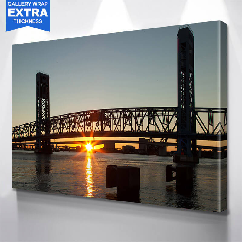 Jacksonville John T. Slsop Jr. Bridge St. Johns  Wall Art Canvas Art