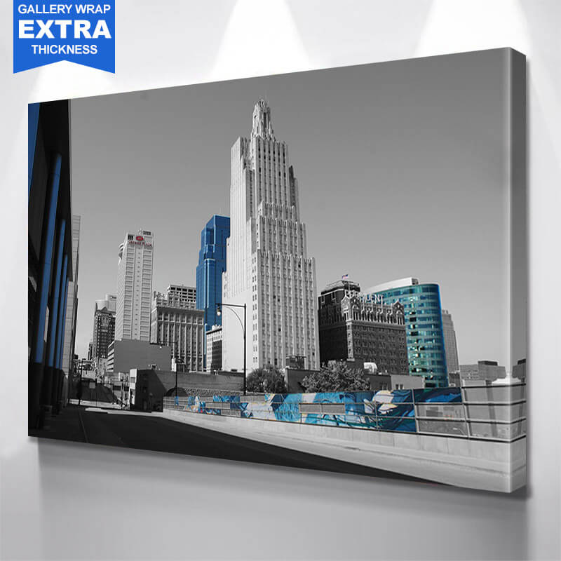 Wood Kansas City Sports Skyline Wall Art Canvas Art & Kansas City Wall Art - Zapwalls