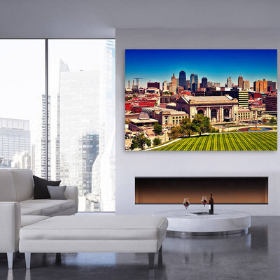 Painting Kansas City Skyline Wall Art - Zapwalls