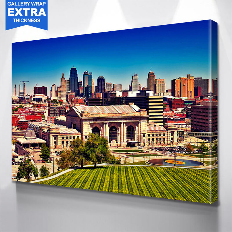 Painting Kansas City Skyline Wall Art Canvas Art & Kansas City Wall Art - Zapwalls
