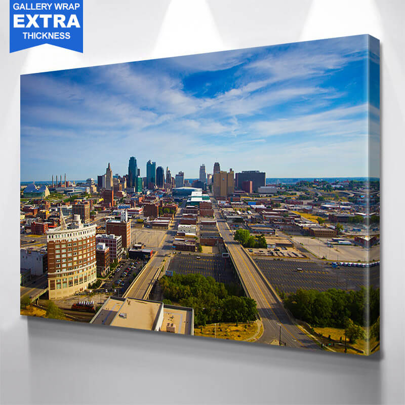 Kansas City Road to Downtown  Wall Art Canvas Art