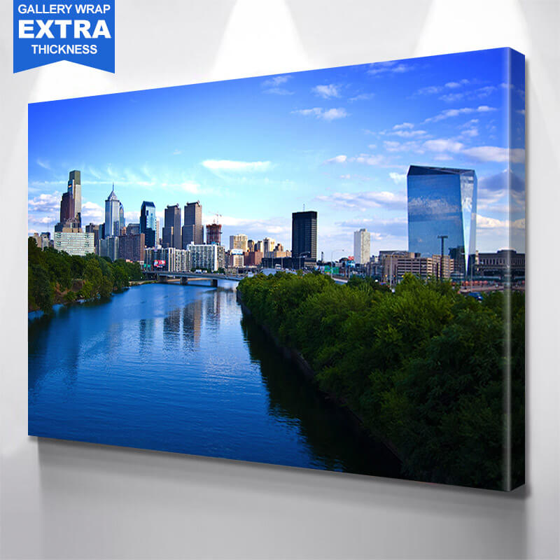 Philadelphia River View Wall Art Canvas Art