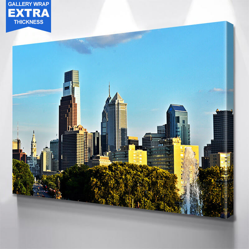 Philadelphia Park View Wall Art Canvas Art