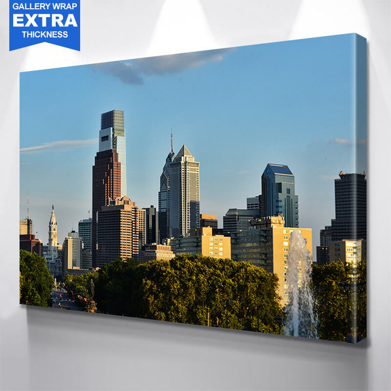 Philadelphia Day Time Park View Wall Art Canvas Art