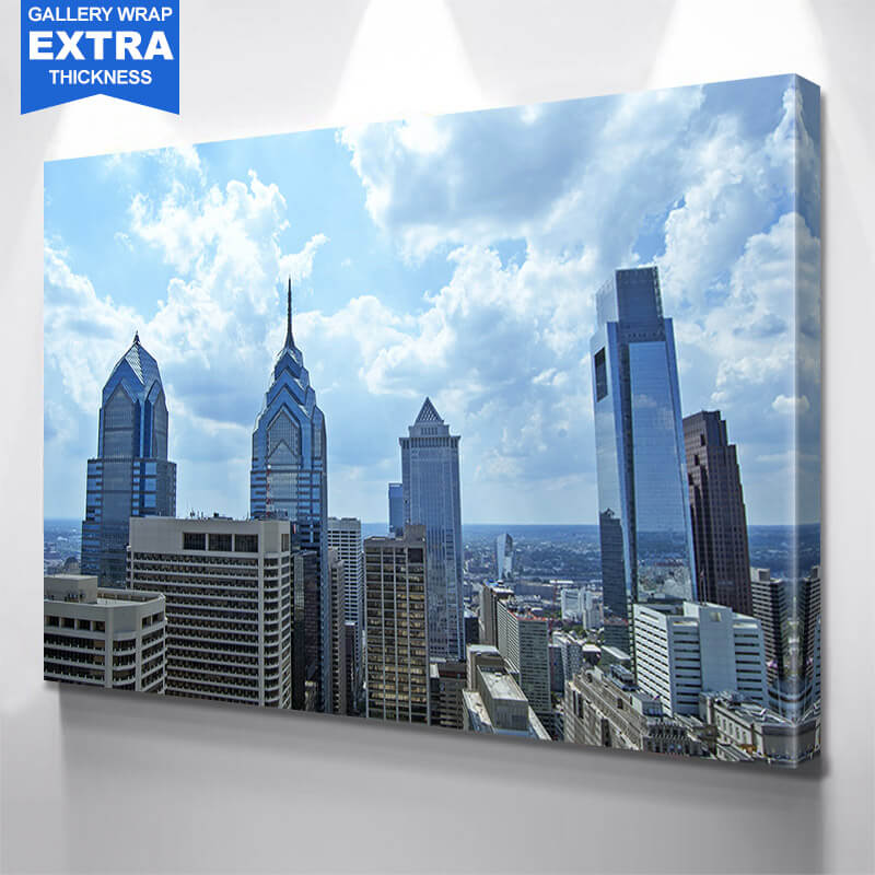 Philadelphia Downtown Buildings Wall Art Canvas Art