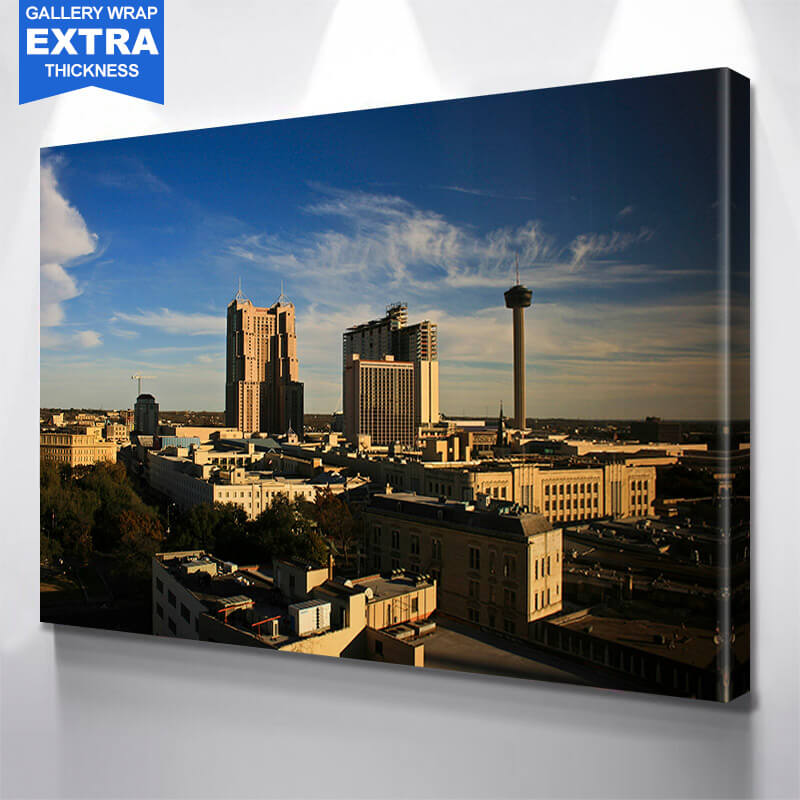 San Antonio Aerial  Wall Art Canvas Art