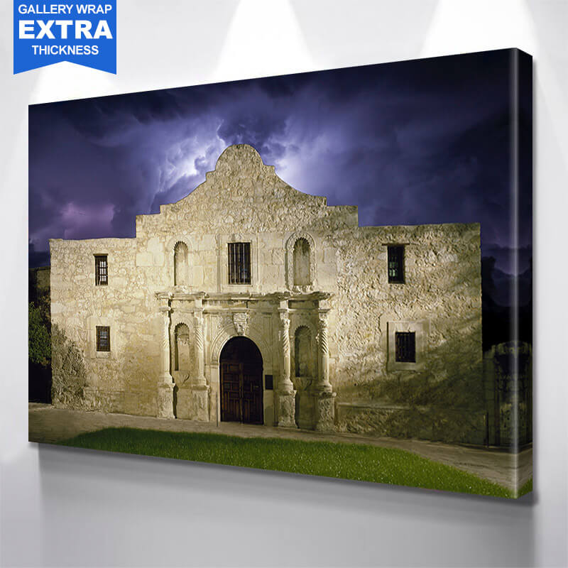 Alamo San Antonio Stormy   Wall Art Canvas Art