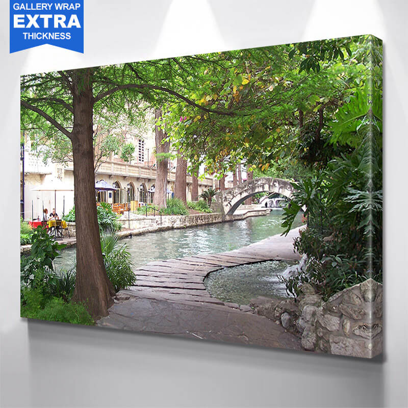 San Antonio Riverwalk Wall Art Canvas Art