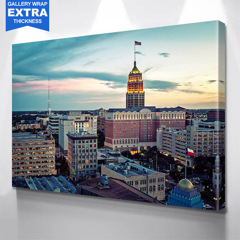 San Antonio Texas Dusk Wall Art Canvas Art