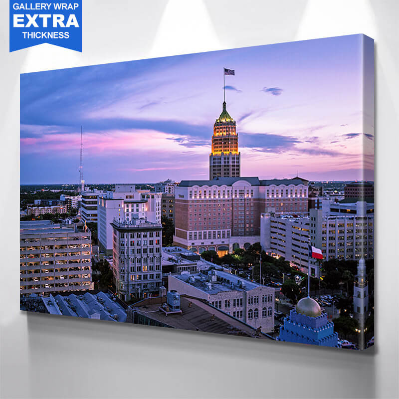 San Antonio Skyline Photography Wall Art Canvas Art