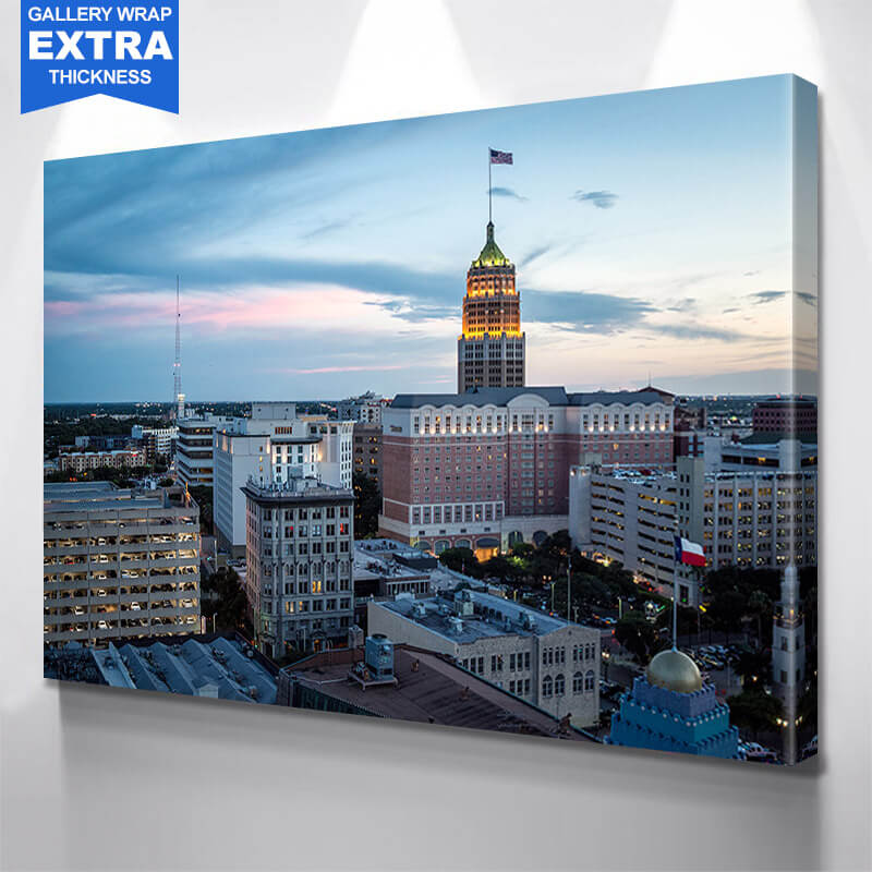 Amazing San Antonio Dusk Wall Art Canvas Art