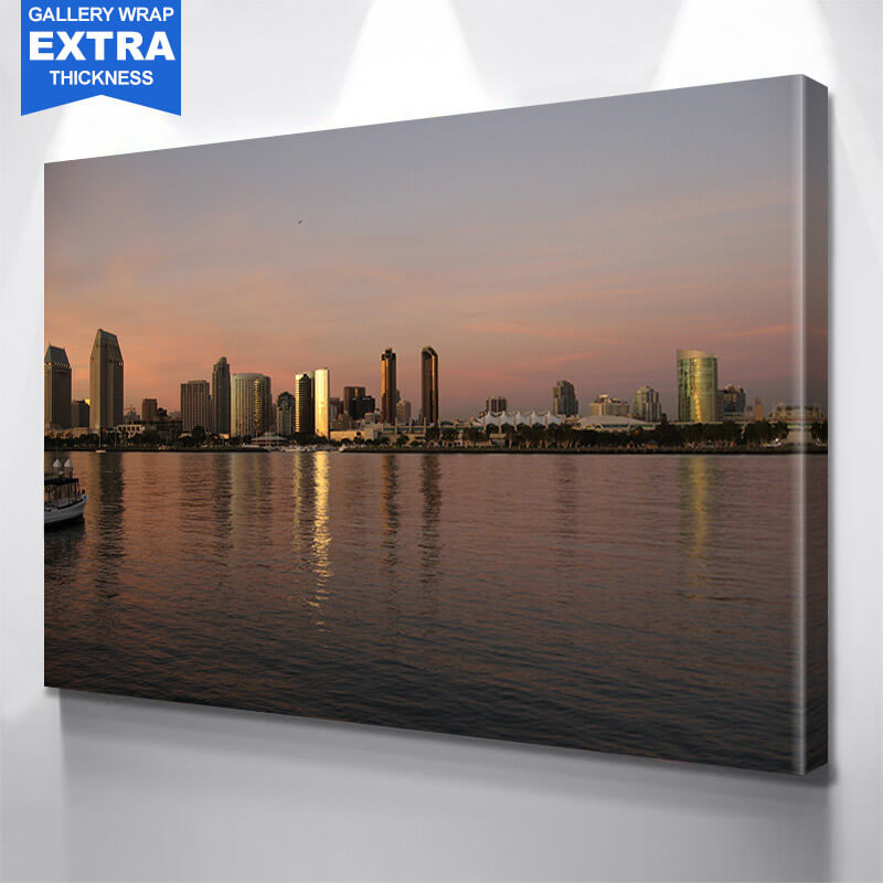San Diego Ocean View Skyline Wall Art Canvas Art