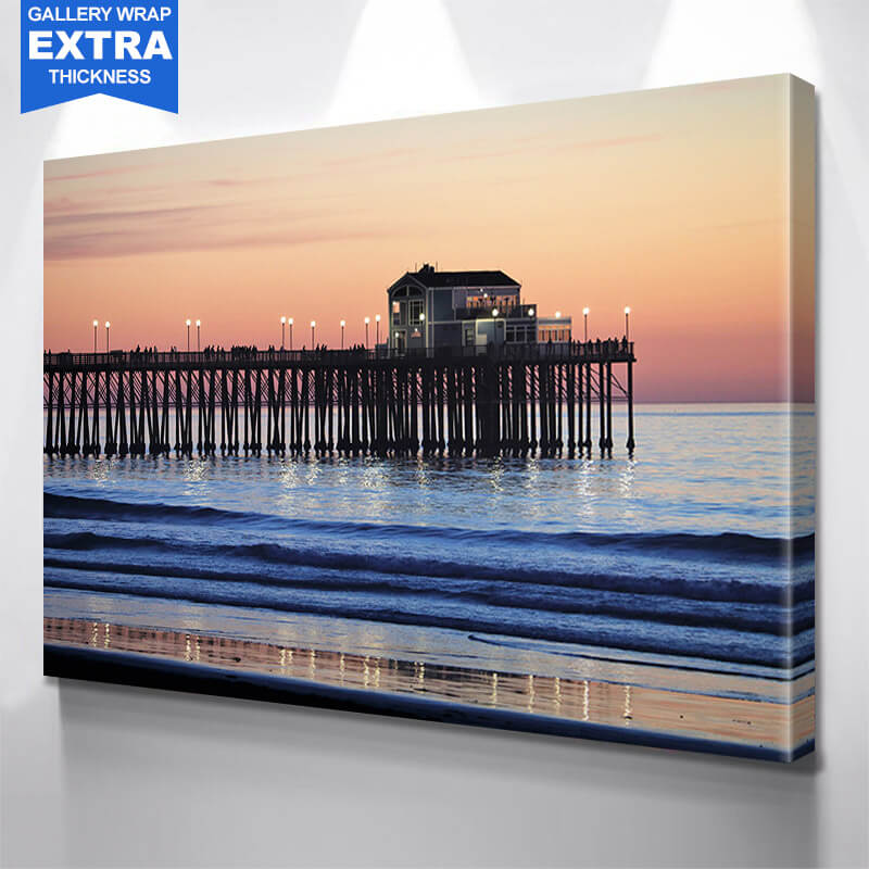 Sun San Diego Pier Wall Art Canvas Art