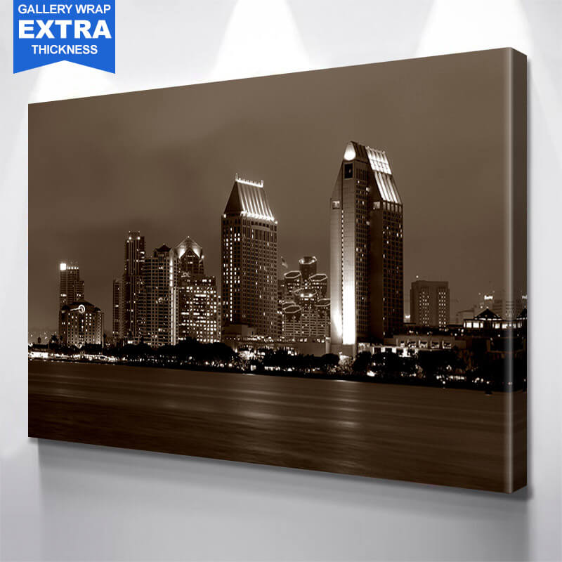 San Diego Black & White Wall Art Canvas Art
