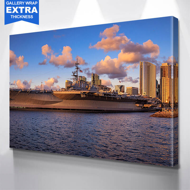 San Diego Navy Ship  Wall Art Canvas Art