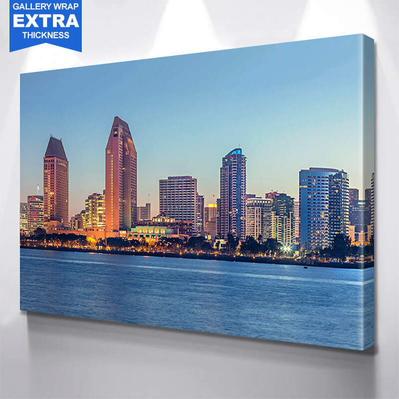 San Diego Skyline Wall Art Canvas Art