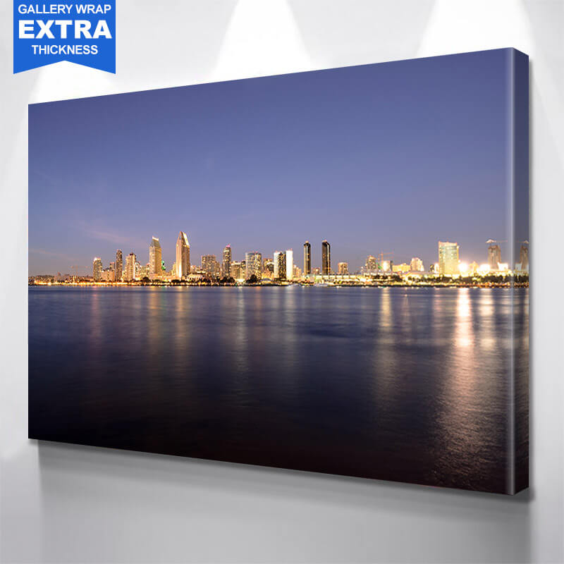 San Diego Skyline Photography Wall Art Canvas Art