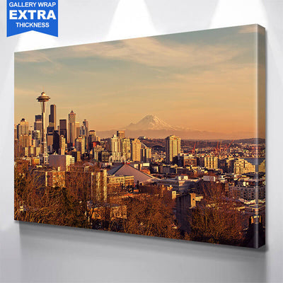 mount rainier seattle skyline wall art zapwalls