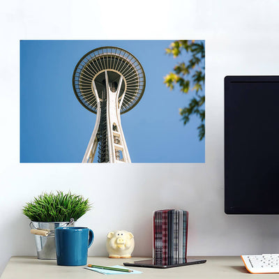 Space Needle Seattle From Below Wall Art Wall Decal Wall Art