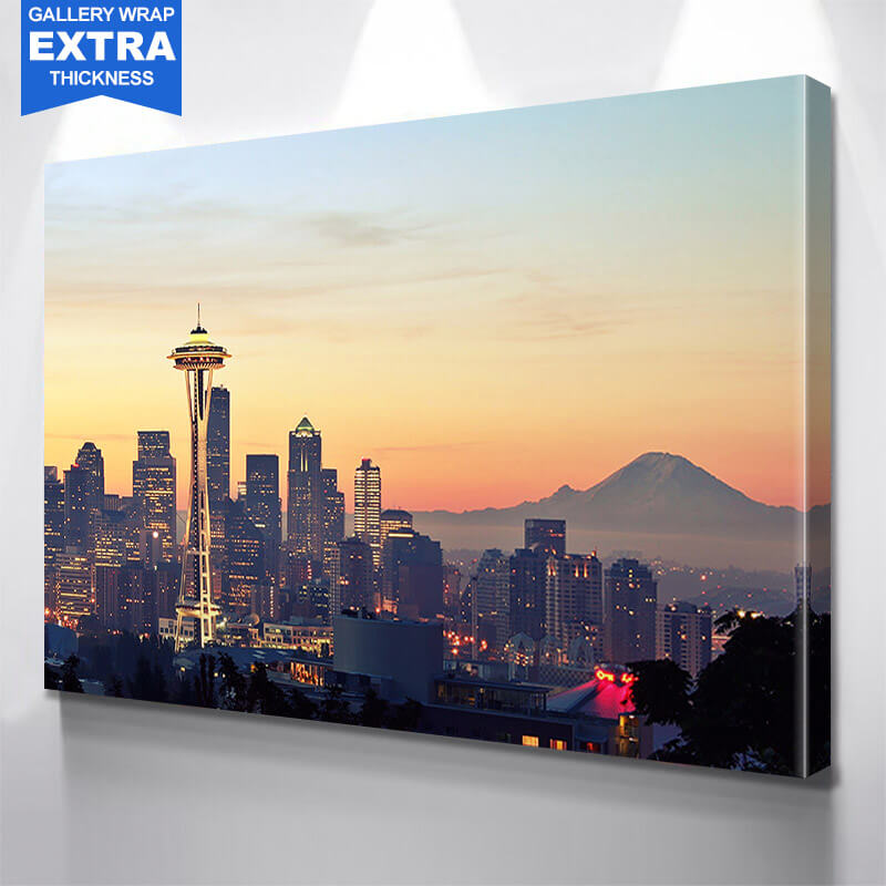 mt rainier seattle skyline wall art zapwalls