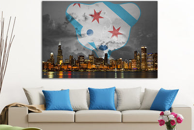 "Zapwalls Canvas 60"" x 40"" Chicago Stormy Northside Canvas"
