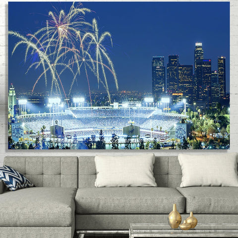 Zapwalls Canvas Amazing Blue Glow LA Canvas
