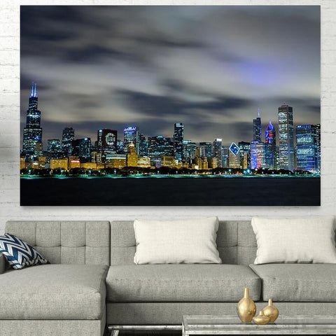 Chicago Cubs Skyline Canvas