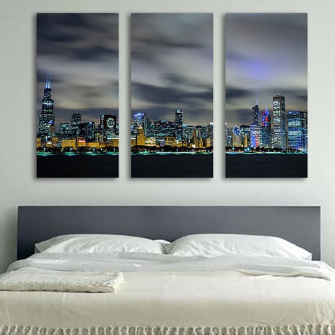 3 Piece Chicago Skyline Canvas
