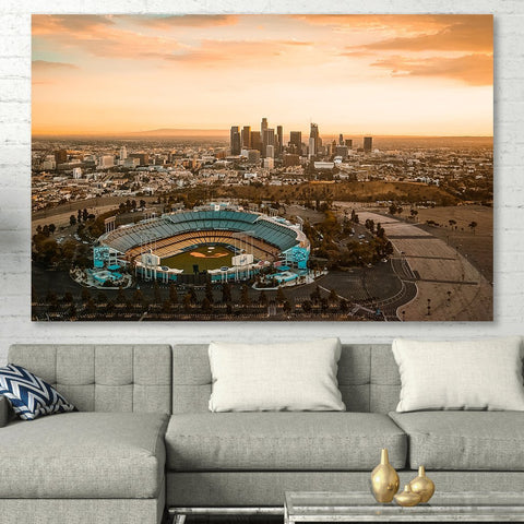 Zapwalls Canvas Amazing Los Angeles Skyline Canvas