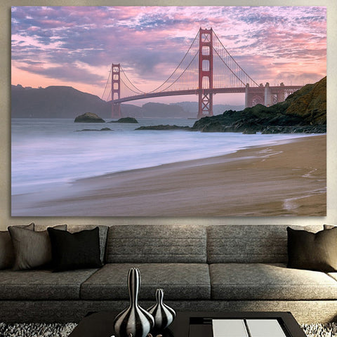Zapwalls Canvas Beautiful Beach Golden Gate Bridge San Francisco Canvas