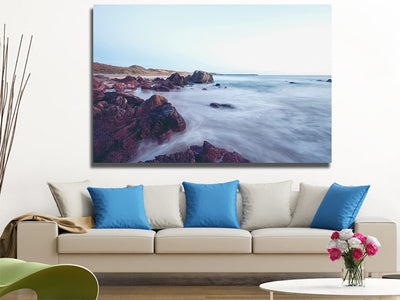 Zapwalls Canvas Beautiful Mystic Water Coast  Nature Canvas Photography Wall Art
