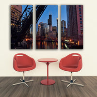 Zapwalls Canvas BRIDGE CHICAGO RIVER SEARS TOWER  CANVAS