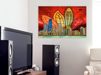 Zapwalls Canvas Chi City Feather Canvas