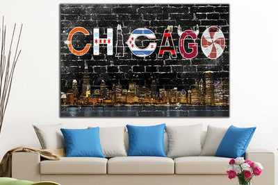 Zapwalls Canvas Chicago Southside Canvas